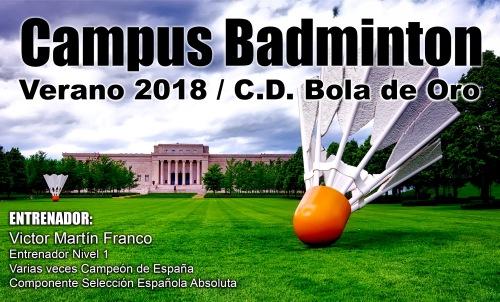 Campus Bádminton Verano 2018